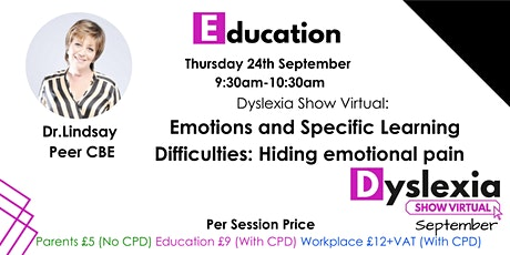Emotions and Specific Learning Difficulties: Hiding emotional pain Tickets