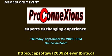 CAPS Ottawa Pro ConneXions Event - For Members Only tickets