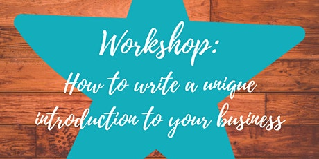 How to write a unique introduction to your business tickets