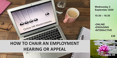 Chairing an employment meeting, hearing, or appeal tickets