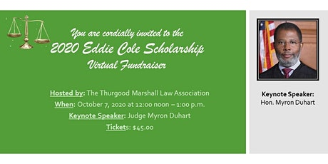 2020 Eddie Cole Scholarship Virtual Fundraiser tickets