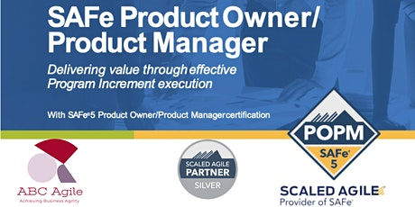 SAFe® Product Owner/Product Manager 5.0 tickets