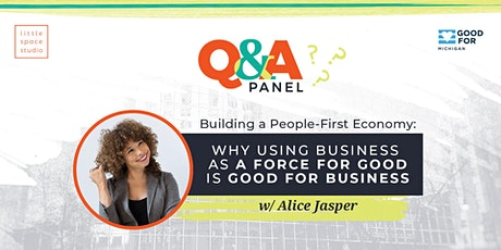 Q&A Panel // Building a People-First Economy tickets