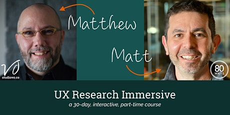 UX Research Immersive - November 2020 tickets