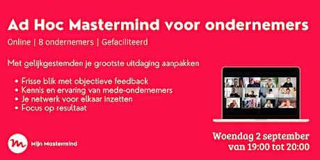 Ad Hoc Mastermind sessie voor ondernemers   Mijn Mastermind tickets