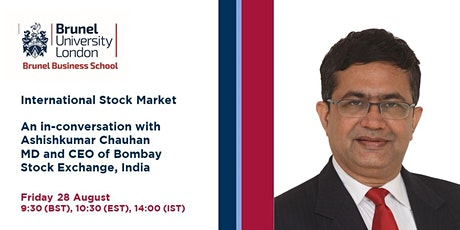 International Stock Market- with the  MD & CEO of Bombay Stock Exchange tickets