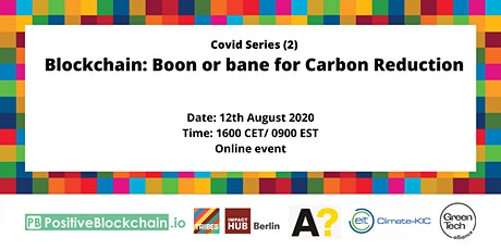 Webinar - Blockchain: Boon or bane for Carbon reduction tickets