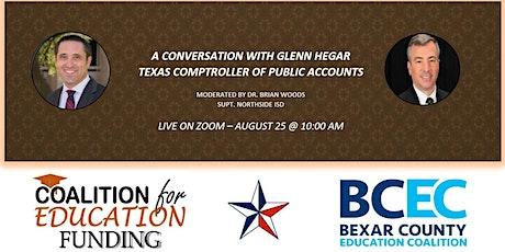 A Conversation with Texas Comptroller Glenn Hegar biglietti