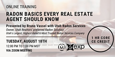 Radon Basics Every Real Estate Agent Should Know tickets