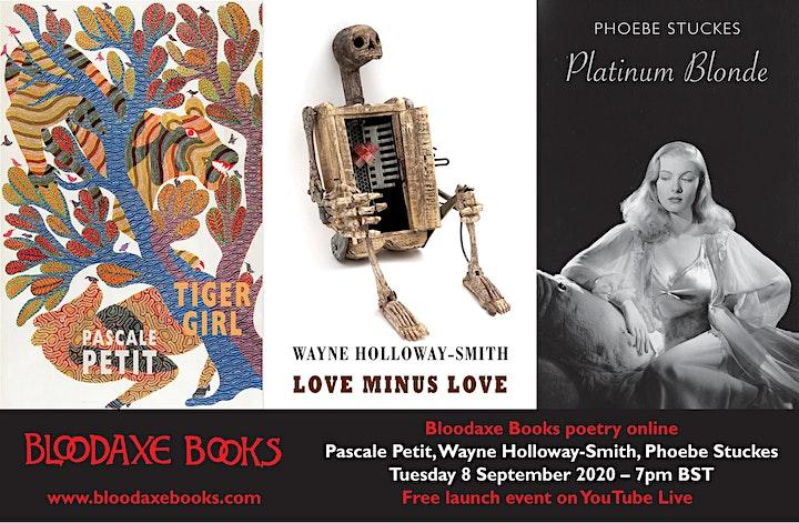 Launch reading by Pascale Petit, Wayne-Holloway Smith & Phoebe Stuckes image