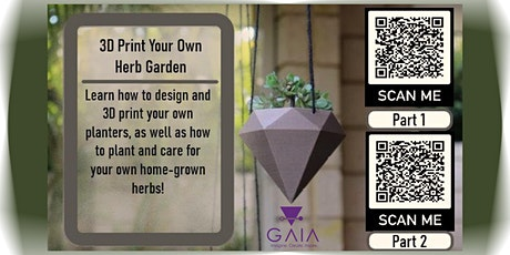 Designing a 3D printed home herb garden (Part 1 of 2) - Free Online Session tickets