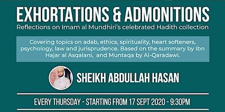 EXHORTATIONS & ADMONITIONS  of Imam al Mundhiri tickets