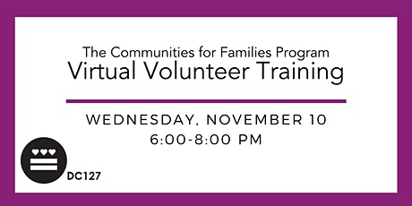 DC127's Virtual Volunteer Training tickets