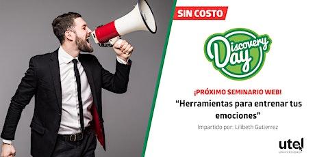 """Seminario Web  """"Herramientas para entrenar tus emociones"""" boletos"""