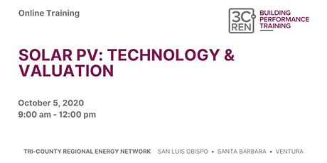 Solar PV: Technology and Valuation [SLO] tickets