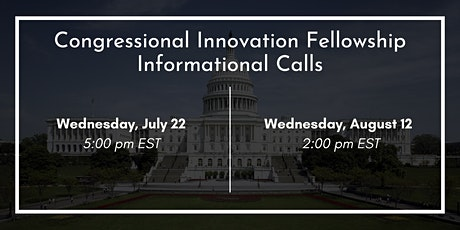2021 Congressional Innovation Fellowship Informational Conference Call tickets