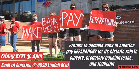 The Delmar Divide is a Bank of America Divide. Reparations Now! tickets