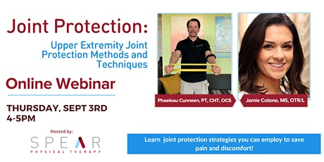 Upper Extremity Joint Protection Methods and Techniques tickets