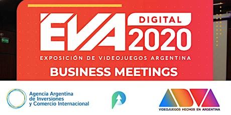 BUSINESS MEETINGS EVA DIGITAL 2020  /  RONDAS de NEGOCIOS EVA DIGITAL 2020 boletos