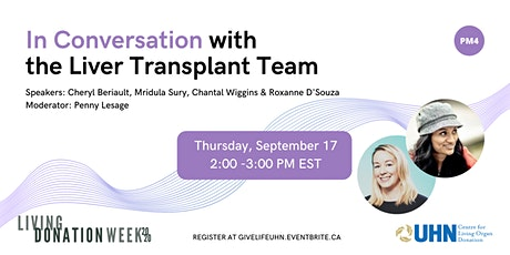 In Conversation with the Liver Transplant Team (PM4) tickets
