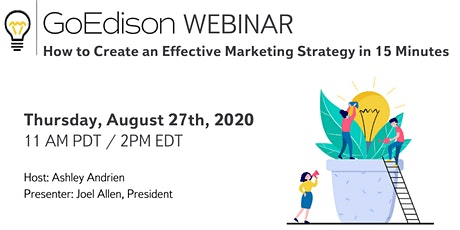 WEBINAR: How to Create an Effective Marketing Strategy in 15 Minutes tickets