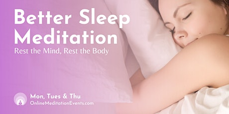Better Sleep Meditation Brooklyn Meditation tickets