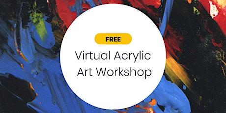 FREE Virtual Acrylic Art Workshop for Parents biglietti