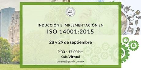 Inducción e Implementación en ISO 14001:2015 tickets
