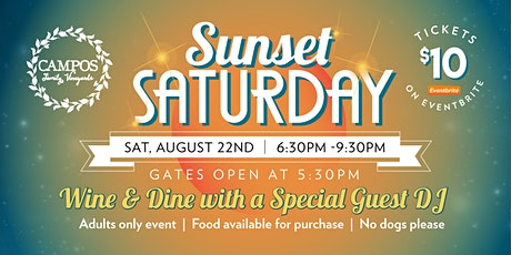 The New Sunset Saturday - Special Guest DJ- Adults Only tickets
