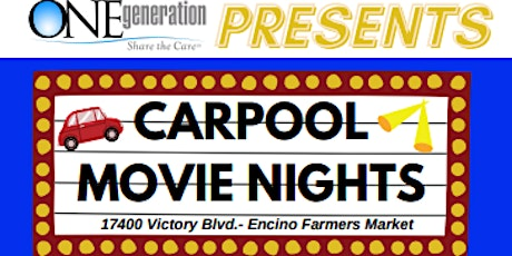 Carpool Movie Nights- $25 per car tickets