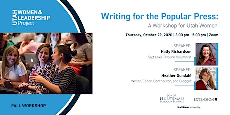 Writing for the Popular Press: A Workshop for Utah Women tickets