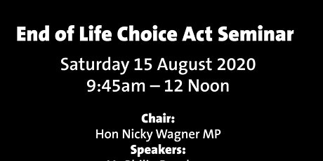 End of Life Choice Act Seminar in the Transitional Cathedral tickets