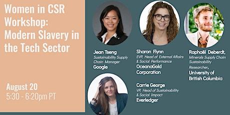 Women in CSR Workshop: Modern Slavery within the Tech Sector tickets