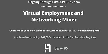 Virtual Employment Networking Mixer — Meet & Connect with Recruiters tickets