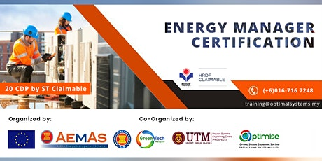 A Five-Day Energy Manager Certification under AEMAS and Energy Commission tickets