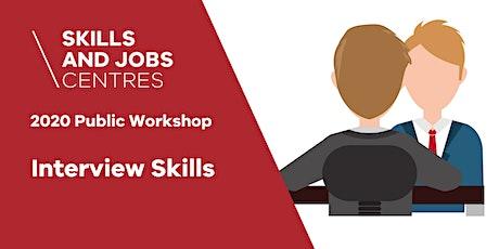 Skills & Jobs Centre | Interview Skills | ONLINE ZOOM WORKSHOP tickets