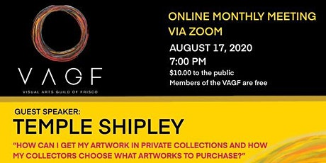 VAGF Monthly Meeting - How can I get my artwork into private collections tickets