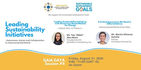 GAIA GAYA Session 6: Leading Sustainability Initiatives tickets