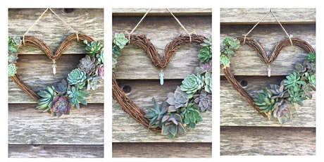 Succulent Heart Wreath tickets