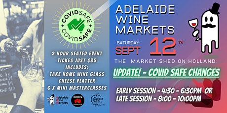 Adelaide Wine Markets - Saturday September 12th (rescheduled from 30/5) tickets