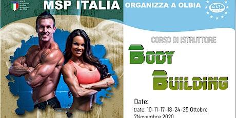 """CORSO MSP ITALIA: """"ISTRUTTORE BODY BUILDING""""-OLBIA"""