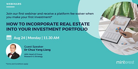 Webinar: How to Incorporate Real Estate into your Investment Portfolio tickets