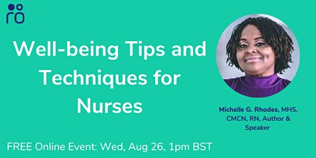 Well-being Tips and Techniques for Nurses tickets