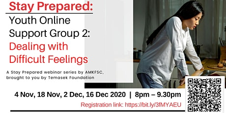 Stay Prepared: Youth Support Group 2: Dealing with Difficult Feelings tickets
