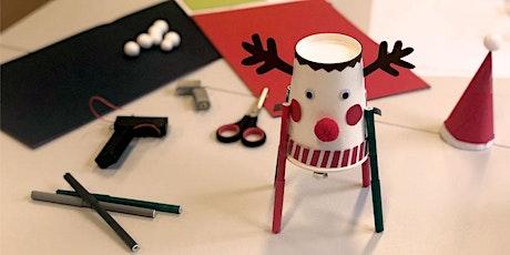 Tüfteln: Weihnachtliche Drawbots basteln Tickets