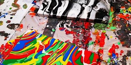 Kunst im Quadrat - Acryl Pouring - ein Farbfeuerwerk! Tickets