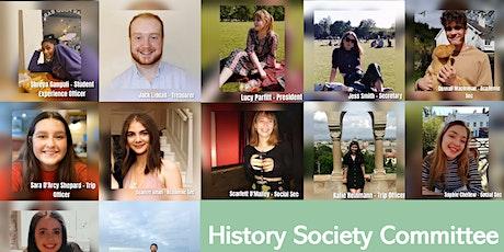 History Society Meet and Greet Tickets