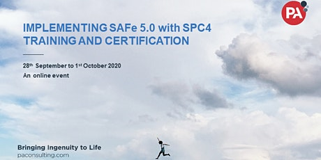 Implementing SAFe 5.0 with SPC4 Training and Certification - Online tickets