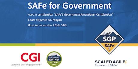 SAFe® for Government (5.0) en Français billets