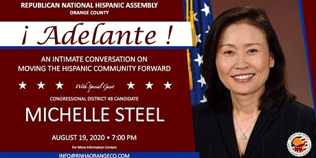 Adelante: An Intimate Conversation with Michelle Steel tickets